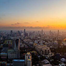 Skyline in Bangkok  |  Thailand van Yvette Baur