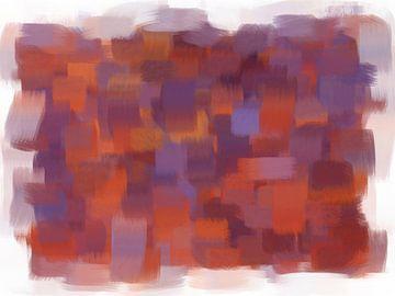 Abstract oranje paars van Maurice Dawson