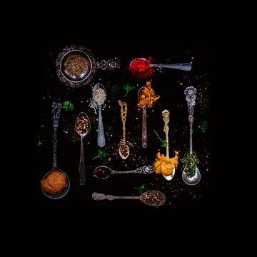 Kruiden en specerijen in alle soorten lepels van Photography by Naomi.K