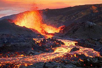 La Fournaise vulkaan, Barathieu Gabriel van 1x