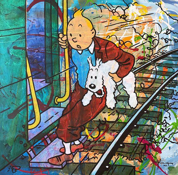 Tintin und Bobbie  von Frans Mandigers