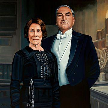 Downton Abbey Painting 3 M. Carson &amp ; Mme Hughes sur Paul Meijering