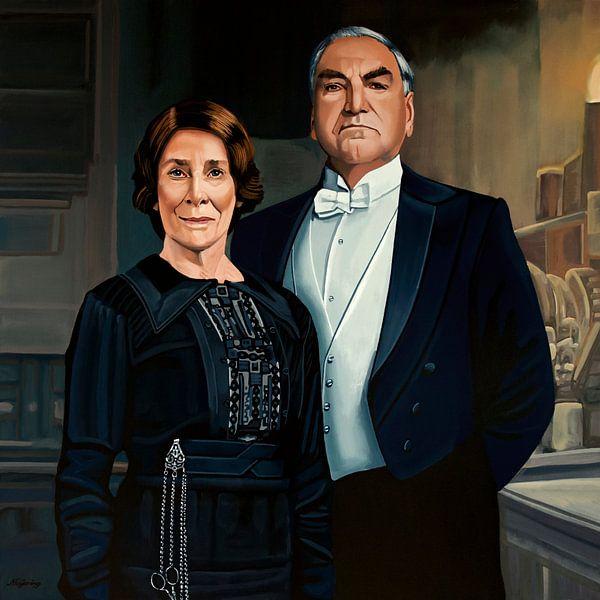 Downton Abbey Schilderij 3 Mr Carson & Ms Hughes van Paul Meijering