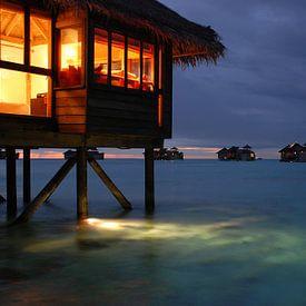 Watervilla in Gili Lankanfushi, Malediven von Robert van Hall