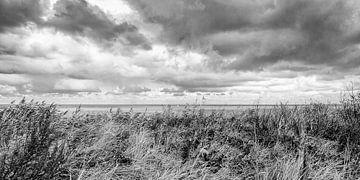 Dreigende Lucht boven Zee gezien vanaf het duin (1) van Dirk Huckriede