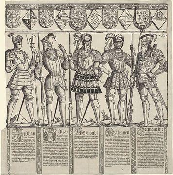 Heren van Brederode, van Zyphridus tot en met Reinout III (rechter blad), Cornelis Anthonisz. 2