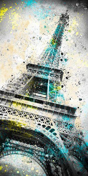 City-Art PARIS Eiffel Tower IV van Melanie Viola