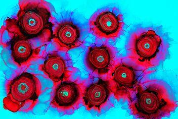 Abstrakte Blumen/Abstrakte Blumen/Abstrakte Blumen/ Fleurs abstraite von Joke Gorter