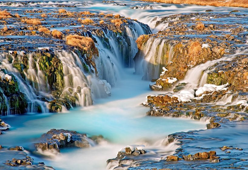Waterval Bruarfoss te IJsland van Anton de Zeeuw
