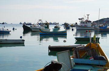 Boten, Schepen / Ships, Marsaxlokk, Malta  van Maurits Bredius