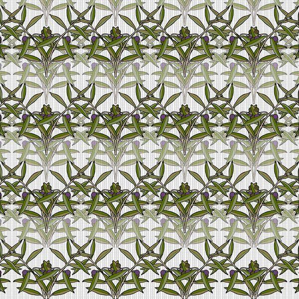 GRAFISCHE PRINT OLIJF 1 van Marijke Mulder
