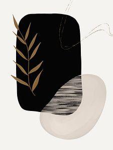 Moderne Kunst - Schwarz und Gold 5 von Studio Malabar