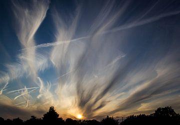 Zomerse zonsondergang von Peter Hooijmeijer