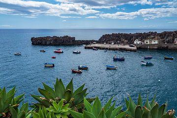 View to the city Camara de Lobos on the island Madeira, Portugal van Rico Ködder