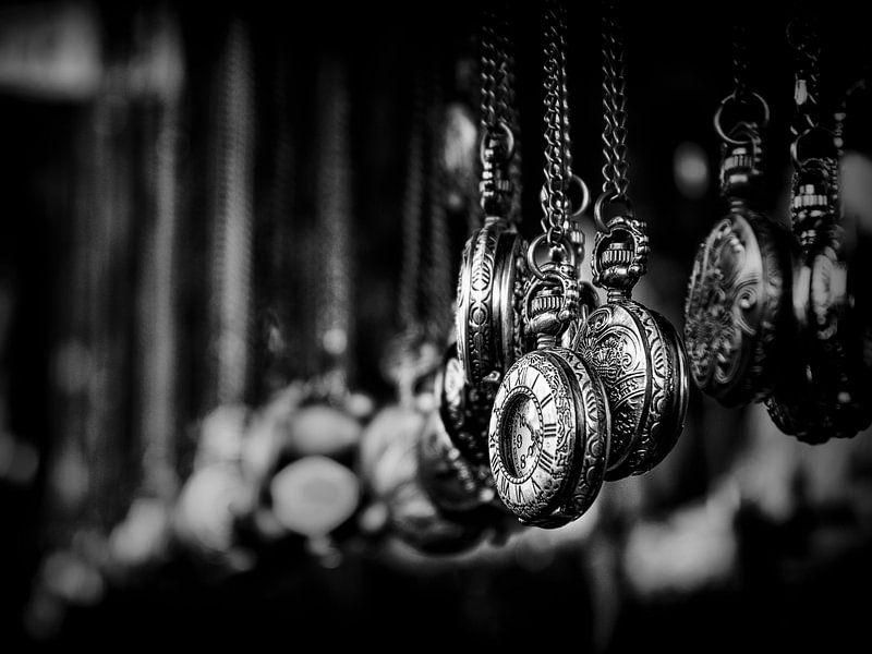 Portobello Road... (zwart, wit, Londen) van Bob Daalder
