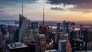 New York   im Sonnenuntergang