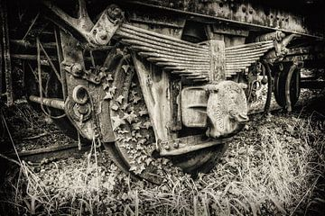 Roue de train sur