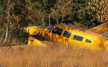 Gestrand vliegtuig in de natuur van Robin Smeets