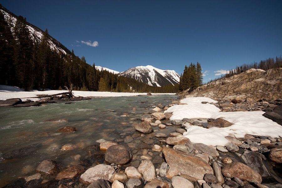 Rivier in Canada vlakbij Jasper