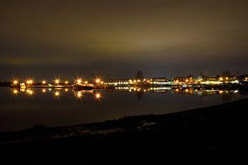 Haven bij nacht van Marcel Ethner