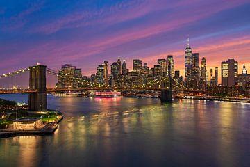 Sonnenuntergang in New York von Michael Abid