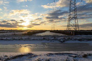 Winters landschap van Esmeralda Fotografie