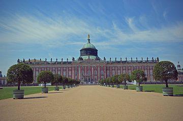 Fassade des Sans Souci Palace in Deutschland von Carolina Reina
