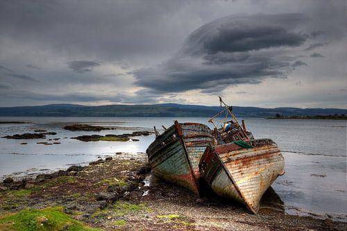 Alte Boote auf Isle of Mull von