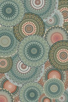 Mandala Collage in het groen van Christine Bässler