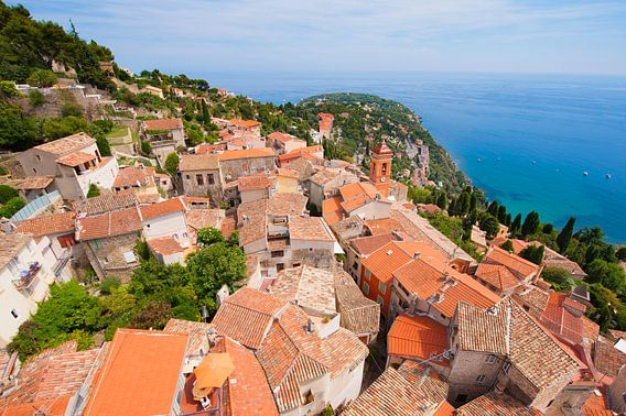 Monaco dorp gezien van boven. van Brian Morgan
