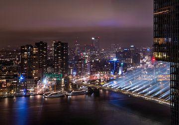 Rotterdam 's nachts van Dawid Ziolkowski