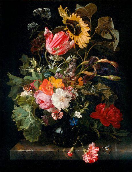 Blumenstrauß in einer Vase, Maria van Oosterwijck von Meesterlijcke Meesters