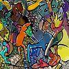 Dansende muis en schuifelend konijn van Henk van Os thumbnail