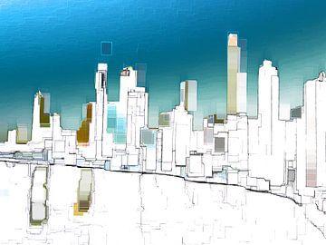 22. city-art, abstract, stad C. van Alies werk