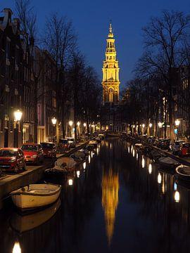 Zuiderkerk Amsterdam bij nacht van