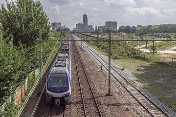 Spoorpark Tilburg  gezien vanaf Spoorviaduct