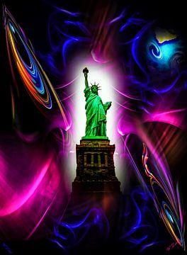 Freiheitssratue  New York van Walter Zettl