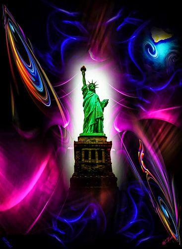 Freiheitssratue  New York sur