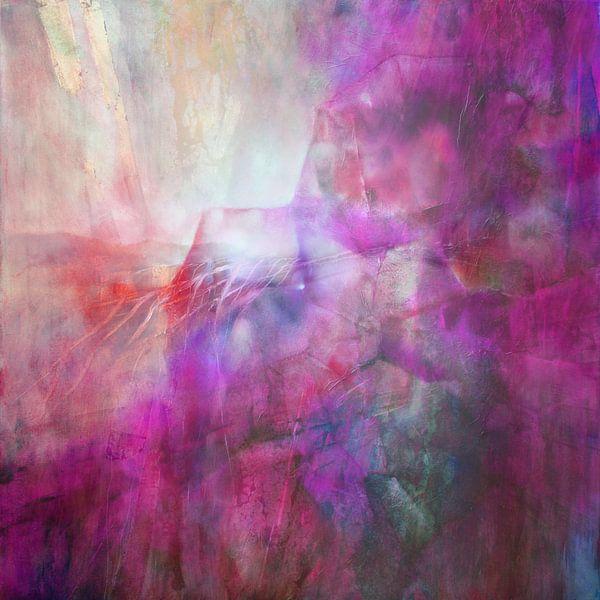 Drifting - abstrakte Komposition in purpur von Annette Schmucker