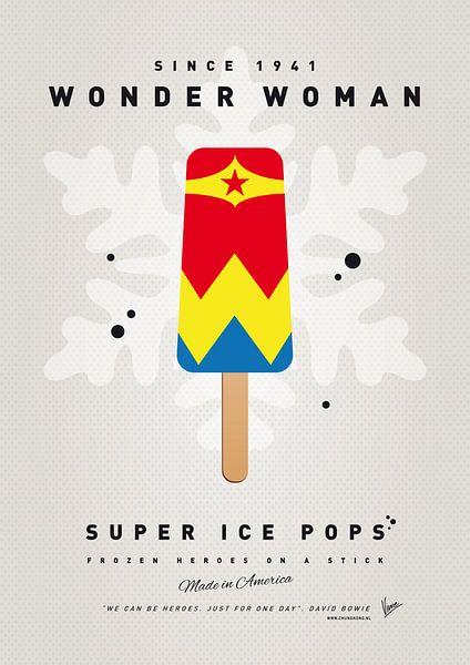 My SUPERHERO ICE POP - Wonder Woman van Chungkong Art