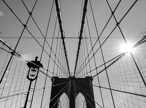 New York sunshine over Brooklyn Bridge