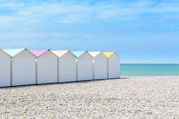 Strand cabines in Le Tréport, Frankrijk sur 7Horses Photography