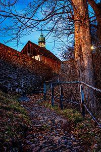 Le chemin du château de Selva Gardena