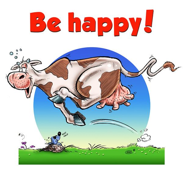 Be Happy Cow van Stan Groenland