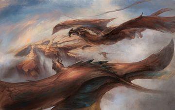 Draken boven de woestijn van Atelier Liesjes