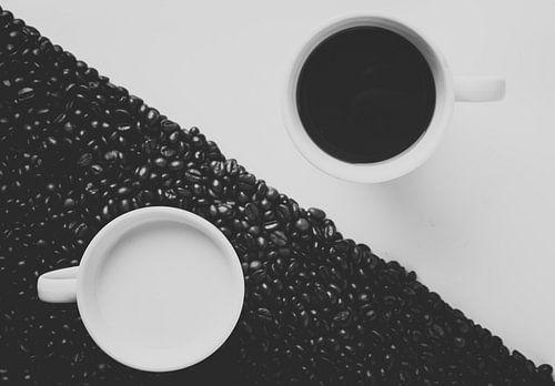 Koffie en melk van