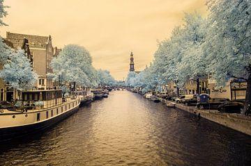 De Amsterdamse Keizersgracht in infrarood 580NM