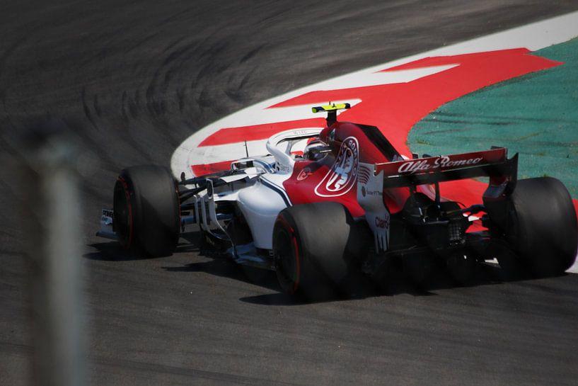 Charles Leclerc - Alfa Romeo Sauber - Formule 1 Spanje 2018 van Charrel Jalving