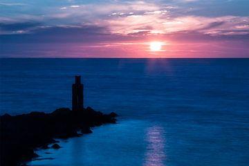 Zonsondergang in Zeeland 2  van Miranda van Hulst