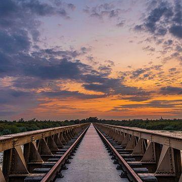 pont ferroviaire abandonné sur